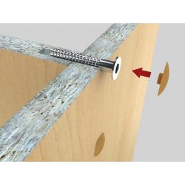 Стяжки для мебели Материал пластик+металл
