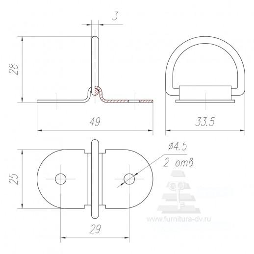 Кольцо для вставки стола ДМ 005