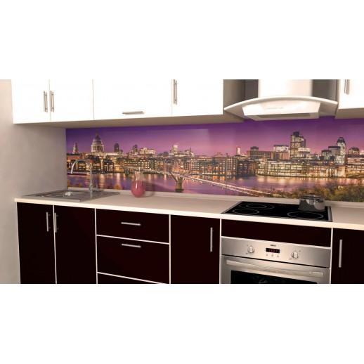 Кухонная панель AF38 глянцевая, Лондон