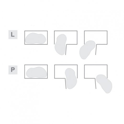 Волшебный уголок Optima Linia Maxima, белый, левый/правый