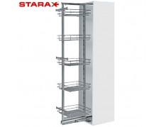 Шкаф-колонна в базу на 300 мм, 6 корзин, STARAX