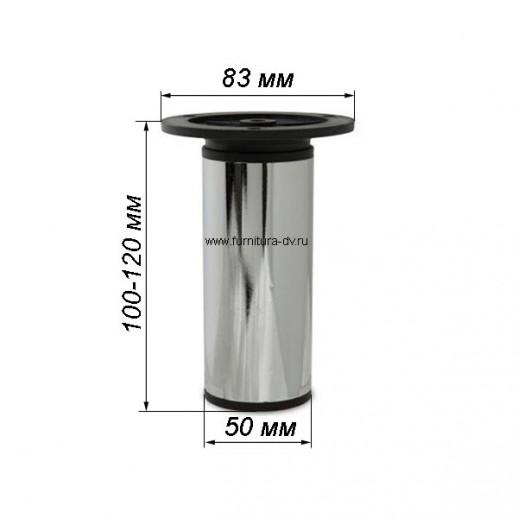 Опора 19527, Н=100 мм (хром), регулируемая