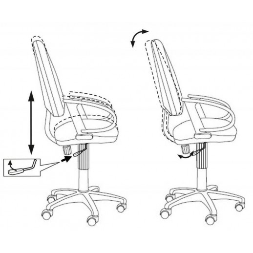 Механизм качения для офисного кресла