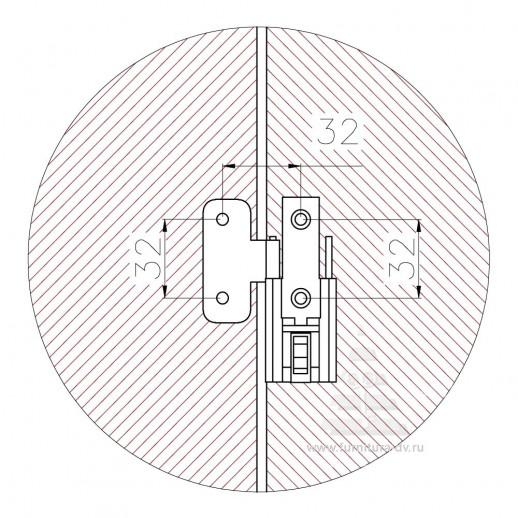 Петля для складных дверей GB 1031-1