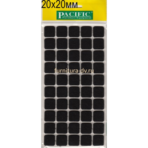 Подпятник 20*20 мм самоклейка, квадратные, резина