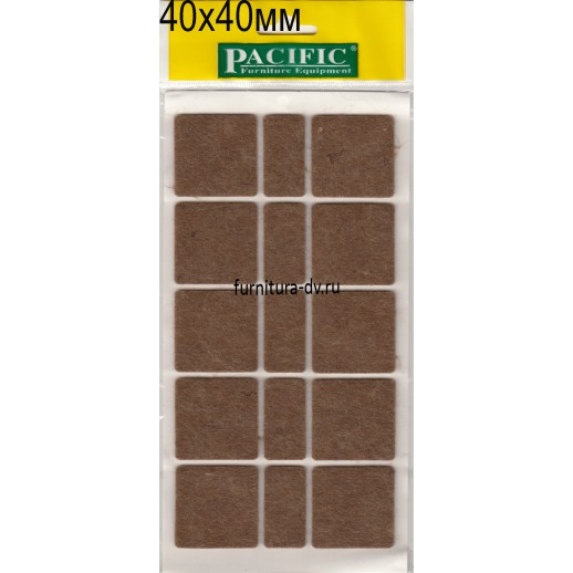 Подпятник 40*40 мм самоклейка, квадратные, фетр