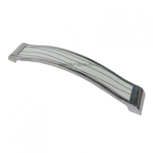 Ручка-скоба Metax KD-160-02 Белый/хром
