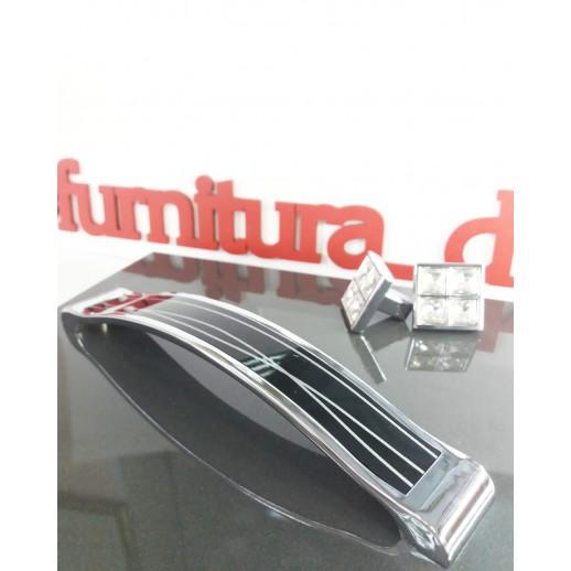 Ручка-скоба Metax KD-160-02 Черный/хром