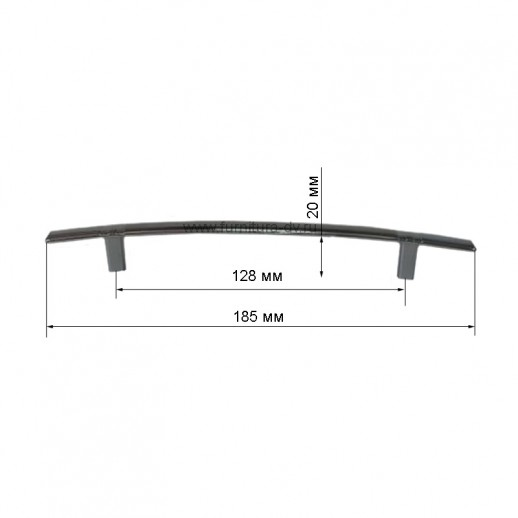 Ручка-скоба Metax N-590-128 хром/инокс