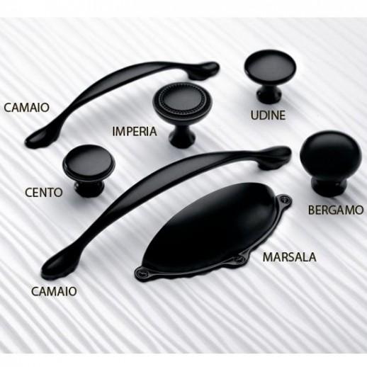 Ручка-ракушка Marsala, черный матовый
