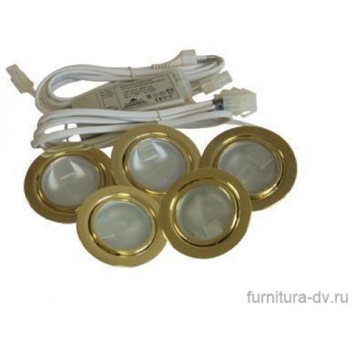 Комплект из 5-ти светильников (золото)