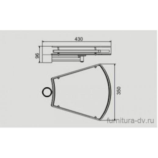 Полка-конус боковая (стекло) для барной стойки PTJ 016-29