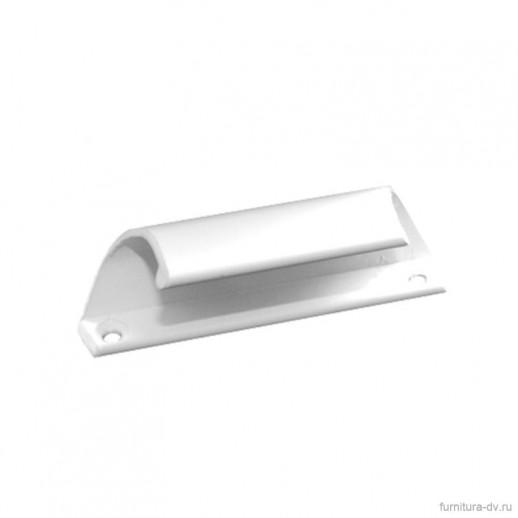 Ручка балконная, стальная, белая У1-0409.Б