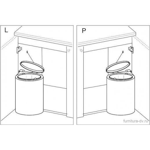 Ведро для мусора (хром) обьем 10 литров