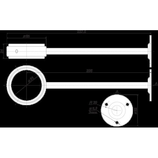 Крепление боковое для барной стойки Z004