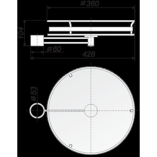 Полка боковая для барной стойки STB - 350 BA