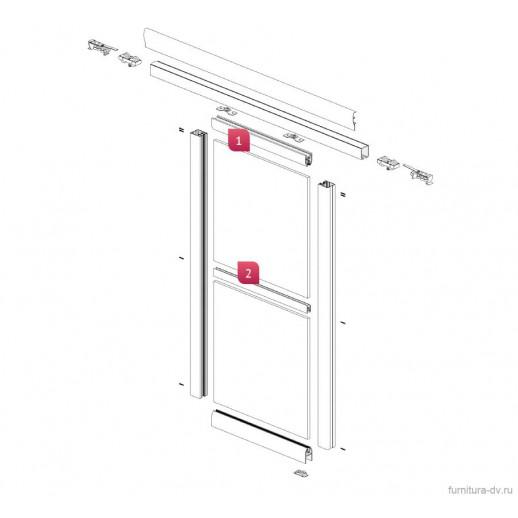 Подвесная алюминиевая система FUTURUM для раздвижных дверей