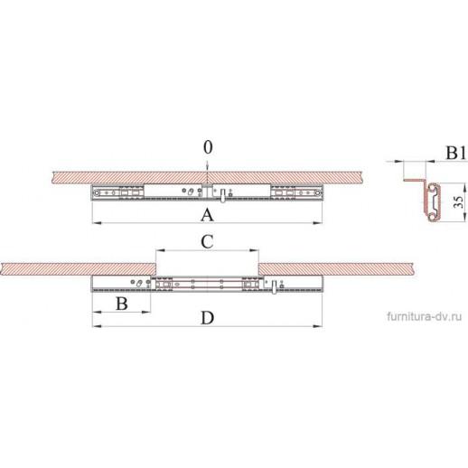 Механизм для раздвижных столов ТД 35/ 520 SB