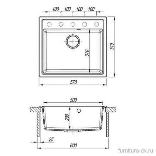 Мойка кухонная НИКА 570