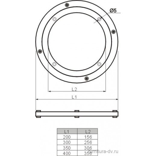 Поворотная площадка для стекла В 599 Д-300 мм