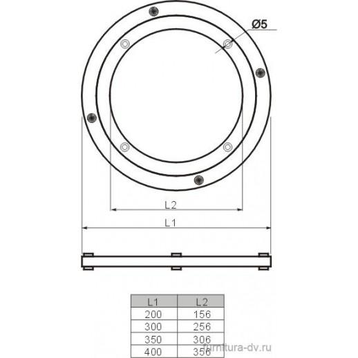 Поворотная площадка для стекла В 599 Д- 200 мм