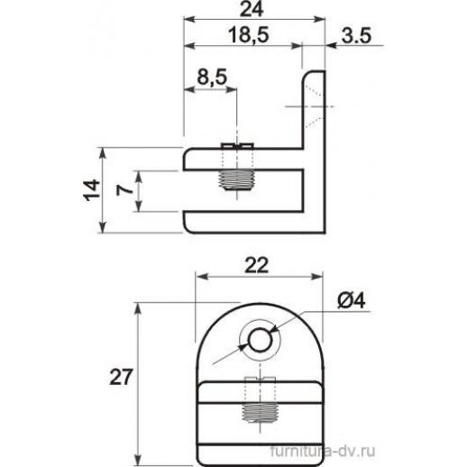 Полкодержатель для стекла МП-40