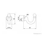 Крючки мебельные одинарные WP 29