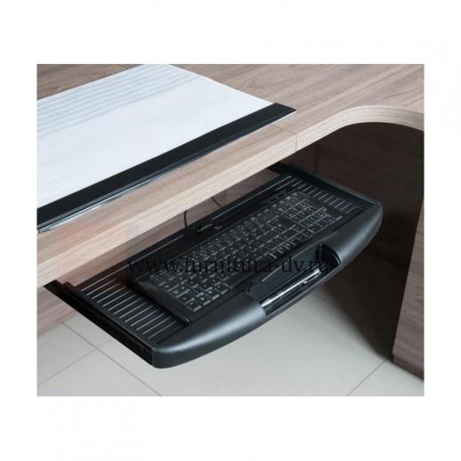 Выдвижная полка для клавиатуры (серая, черная)